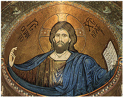 Mosaic icon of Christ Pantokrator.